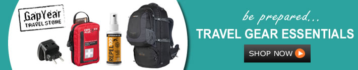 gap year travel from travel backpacks and lightweight sleeping bags